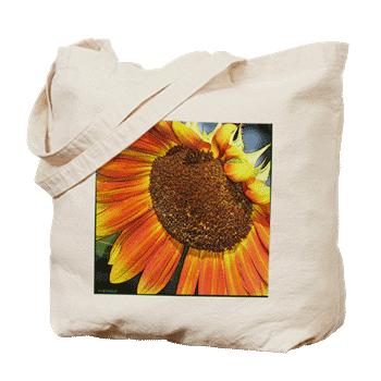 Happy Sunflower: Tote Bag