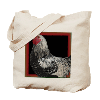 Hudson Valley Art: Willy the Rooster: Tote Bag