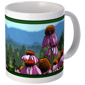 Hudson Valley Farm Art: Echinacea Mug