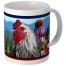 Hudson Valley Farm Art: Echinacea & Rooster Mug