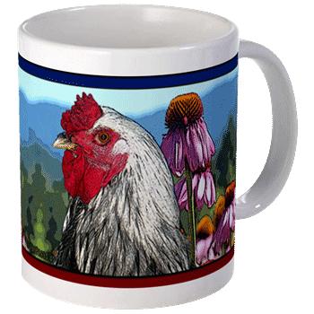 Echinacea & Rooster Mug