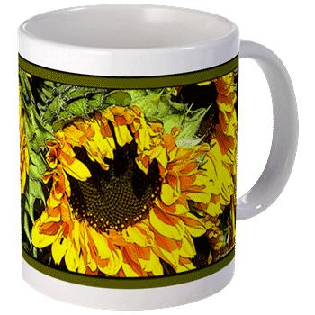 Sunflower Art Mug
