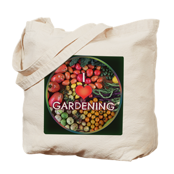 Hudson Valley Art: I Love Gardening cotton Tote Bag